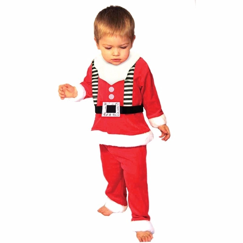 3-delig Kerstmannen kleding voor peuters