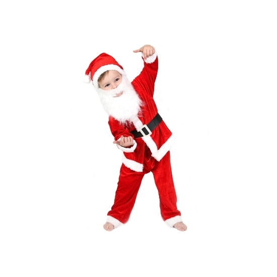 5-delig kerstman peuter kostuum