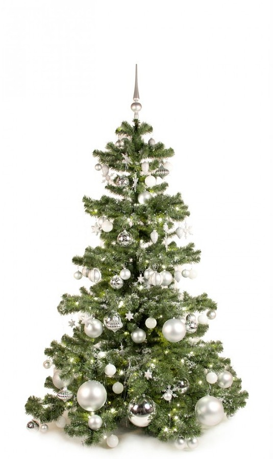 Basic Tree Bright and Silver 180cm | Kerstbomen