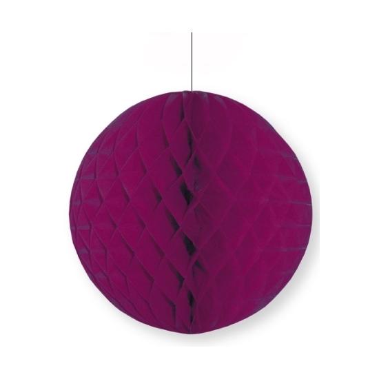 Decoratie bol aubergine 10 cm
