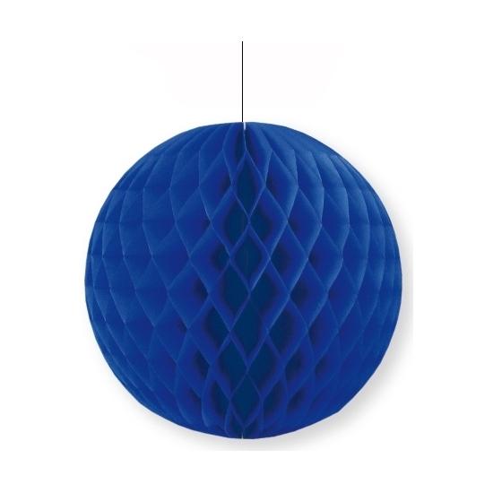 Decoratie bol donkerblauw 10 cm