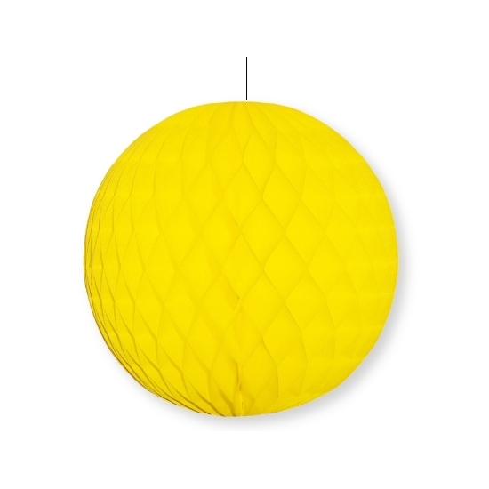Decoratie bol geel 10 cm