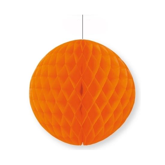 Decoratie bol oranje 10 cm