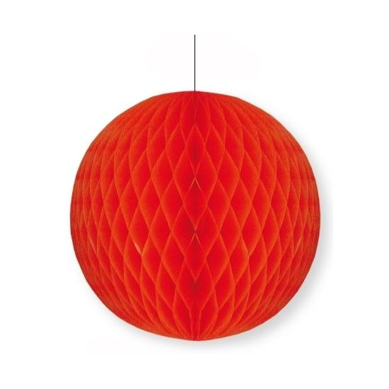 Decoratie bol rood 10 cm
