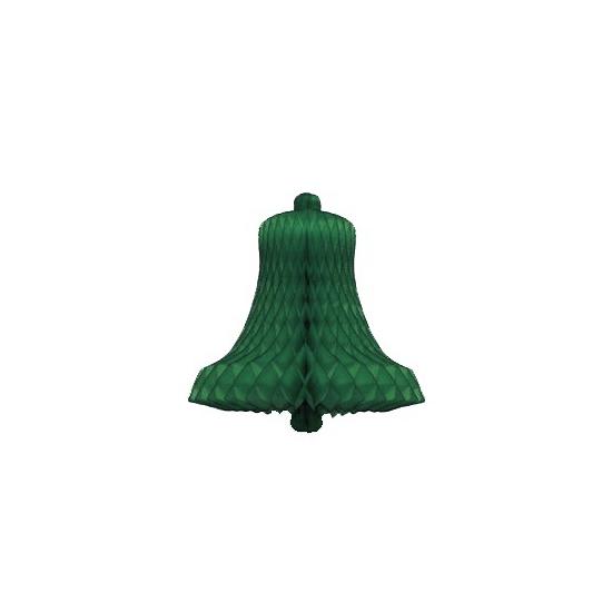Decoratie kerstklok groen 50 cm