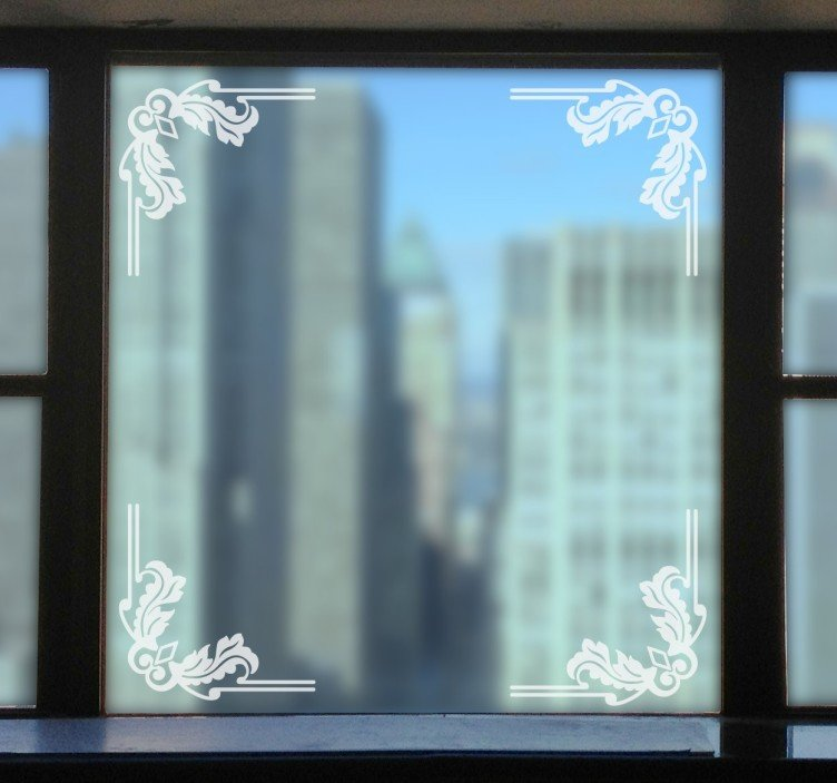 Elegante kerst raam sticker