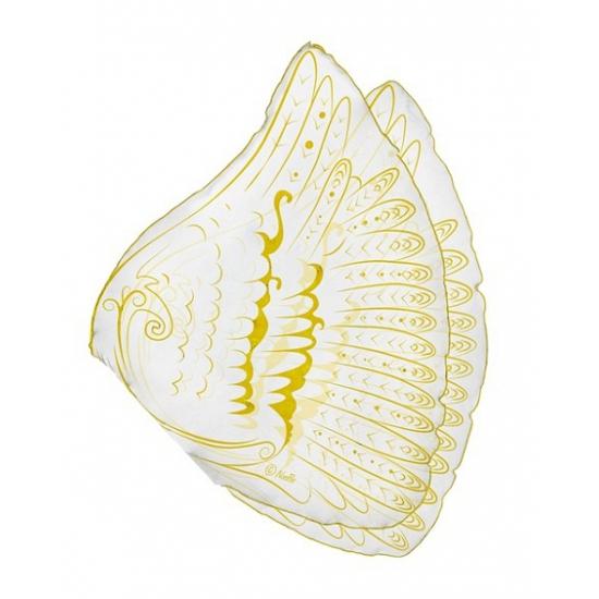 Engelen kinder vleugels wit/goud