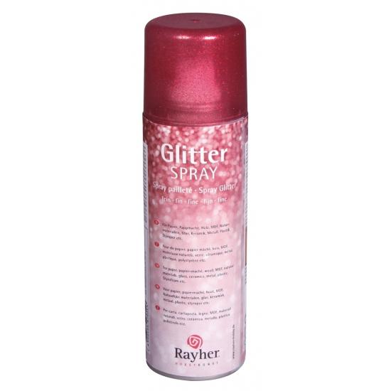 Fijne glitterspray rood
