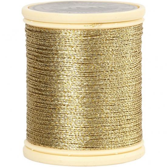 Goud metallic draad 40 meter