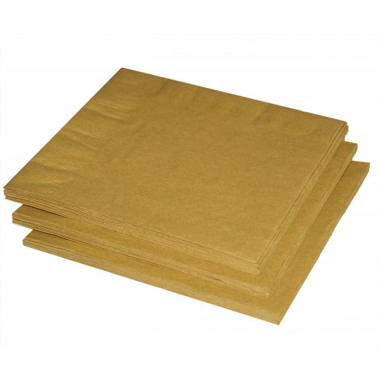 Gouden servetten 33 x 33 cm
