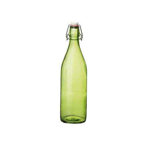 Groene giara fles met beugeldop