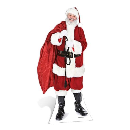 Groot decoratie bord Kerstman