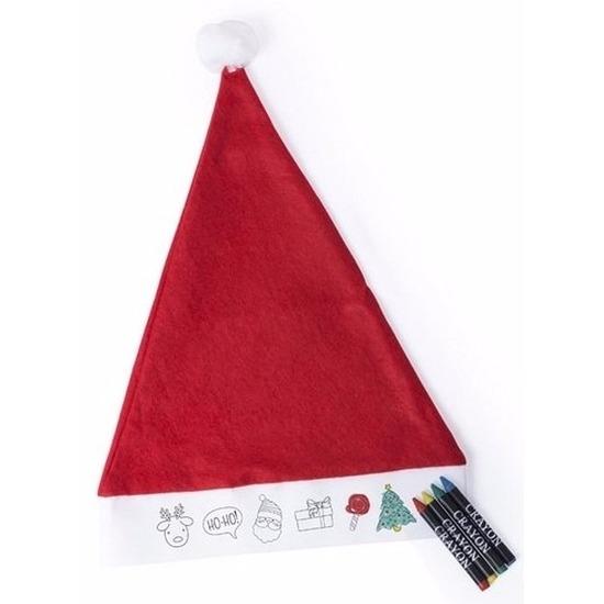 Inkleurbare kerstmuts voor kinderen
