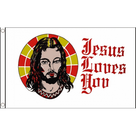 Jesus Loves You vlag