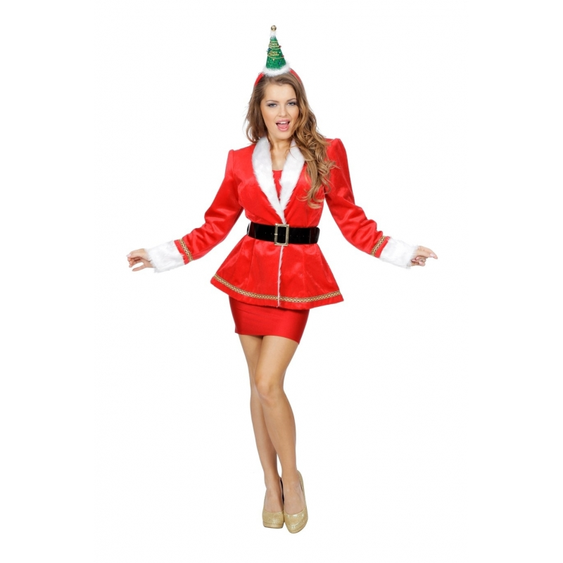 Kerst mantelpak jasje voor dames