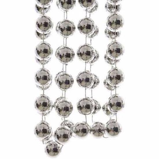 Kerst zilveren XXL kralenslinger Mystic Christmas 270 cm