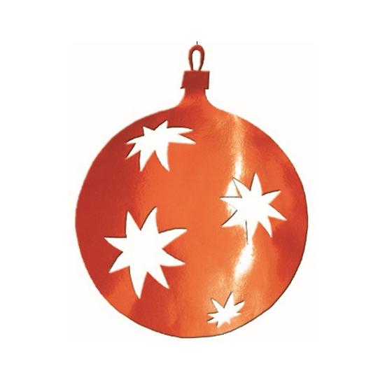 Kerstbal hangdecoratie rood 30 cm