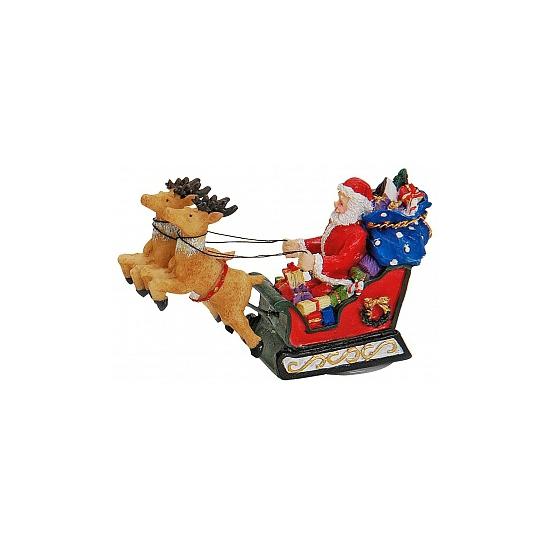 Kerstman decoratie beeldje 8 cm
