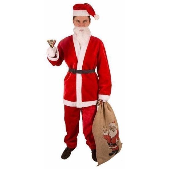 Kerstman pak van pluche maat XL