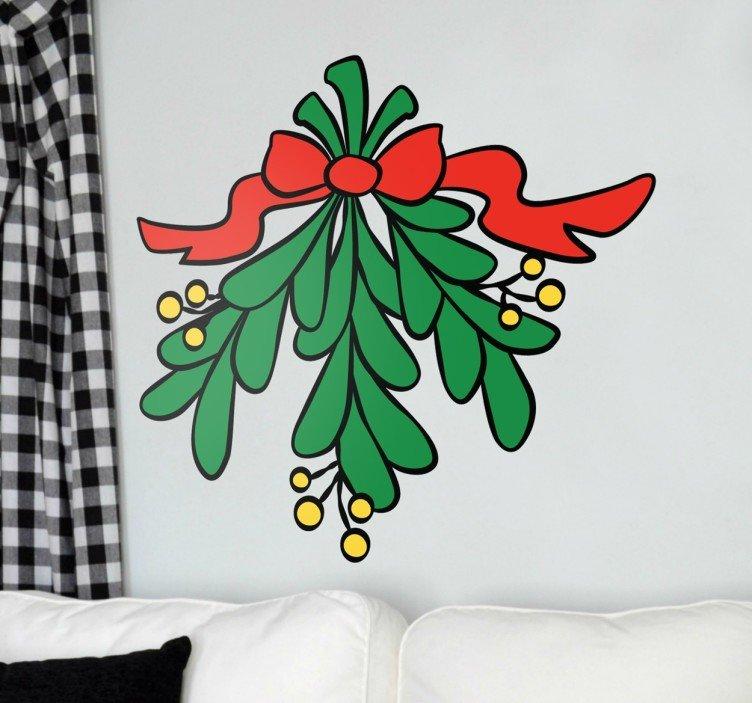 Kerstmis maretak sticker