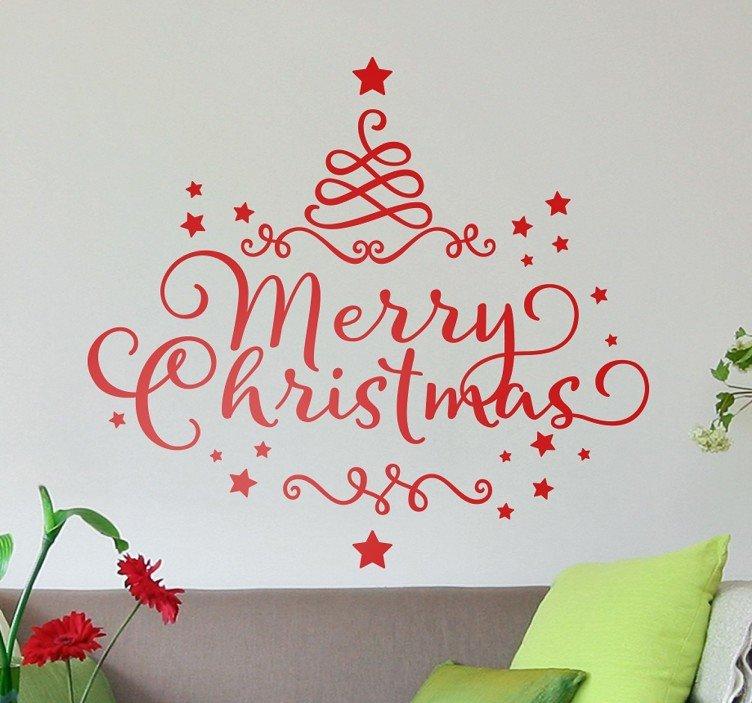 Merry Christmas Kerst Sticker