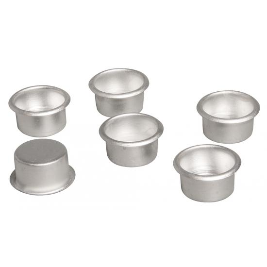 Metalen dinerkaars houders 6 stuks