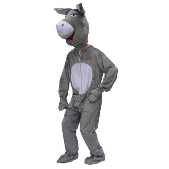 Pluche ezel kostuum volwassenen
