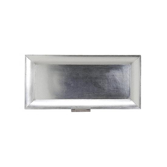 Rechthoekig onderzet bord zilver