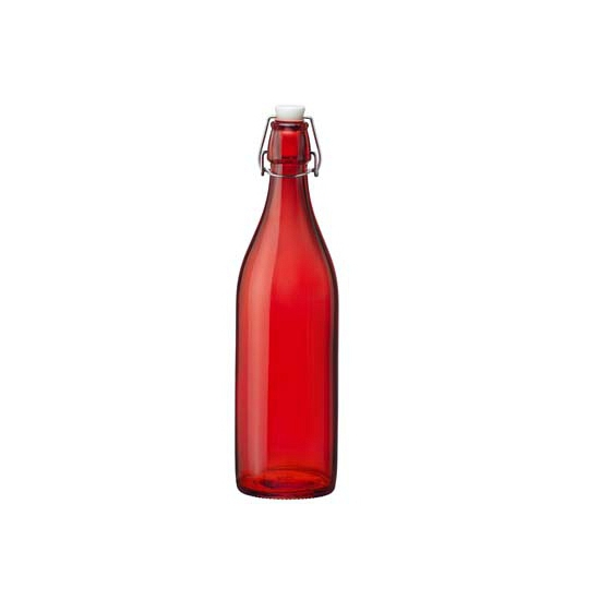 Rode giara fles met beugeldop