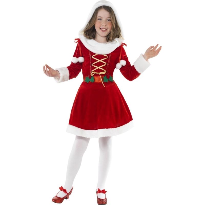 Santa kerst jurkje voor meisjes