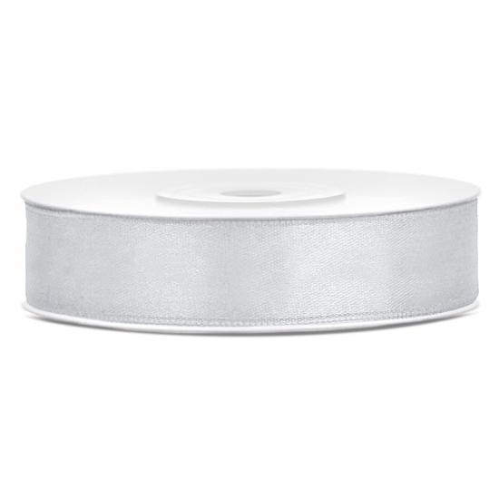 Satijn sierlint zilver 12 mm