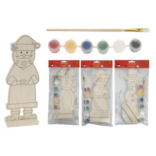 Sneeuwpop schilder decoratie van hout