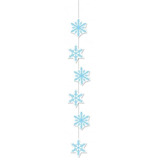 Sneeuwvlokken decoratie slinger 108 cm