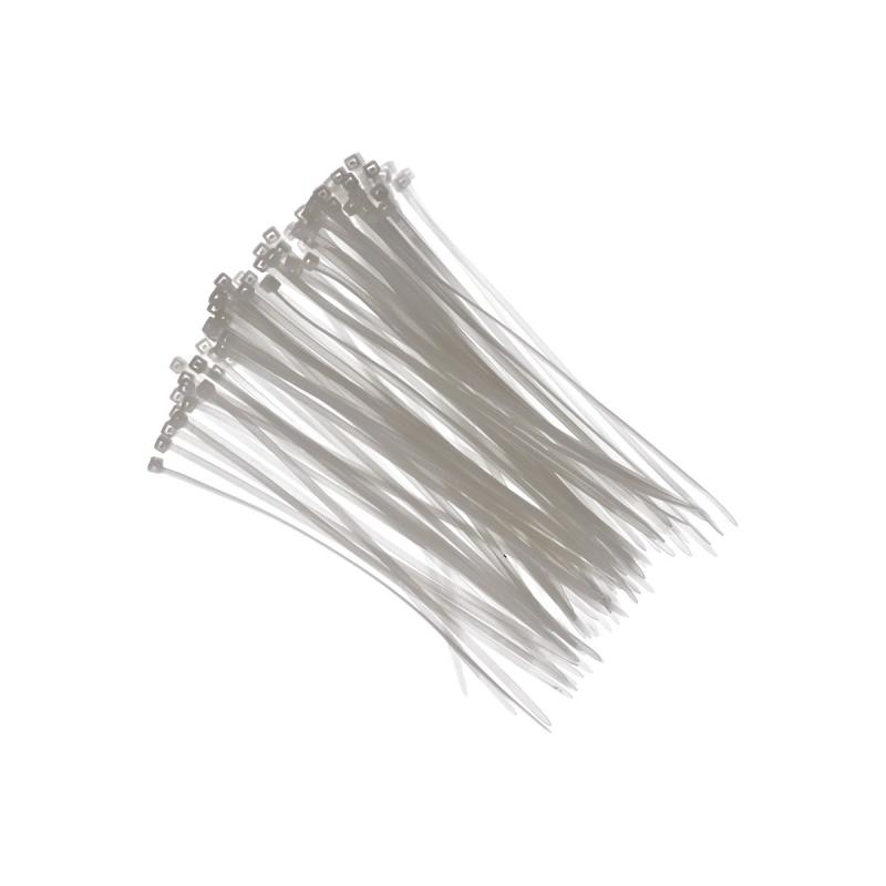 Tie-wraps wit 18 cm 100 stuks
