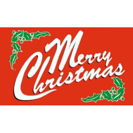 Vlag Merry Christmas 90 x 150 cm
