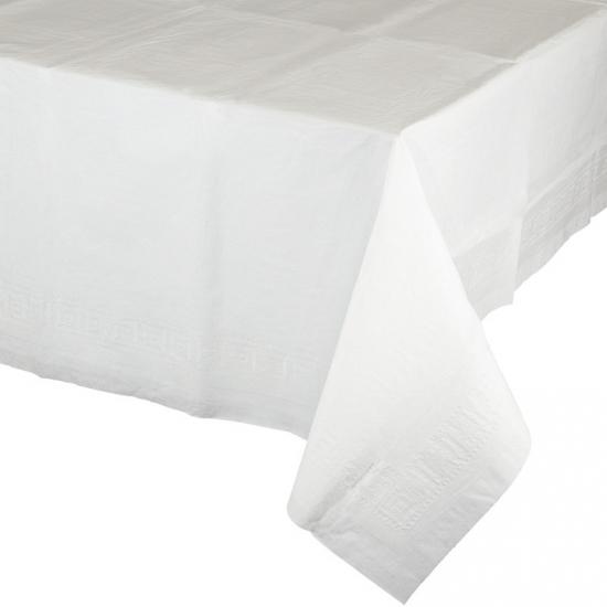 Wit tafelkleed 274 x 137 cm