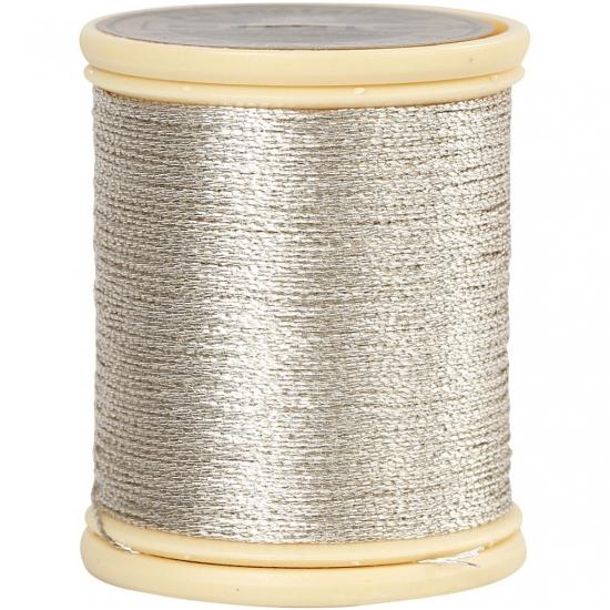 Zilver metallic draad 40 meter