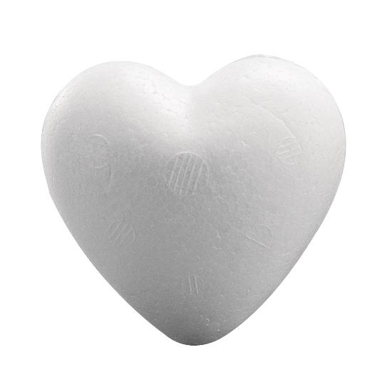 1x Piepschuim hartje van 12 cm