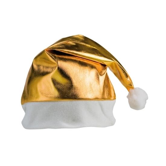 Gouden glimmende kerstmutsen