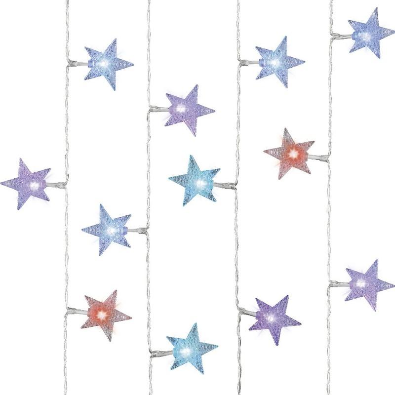 Kerstverlichting gekleurde sterren 30 lampjes
