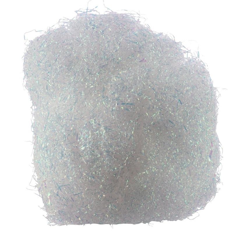 Kerstversiering engelenhaar wit 20 gram