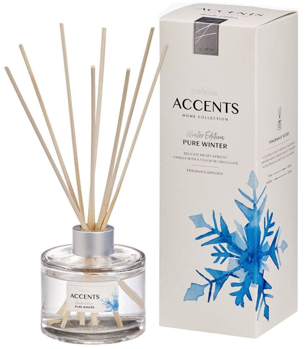 Bolsius Accents Reed Diffuser 100ml Pure Winter 8717847129611