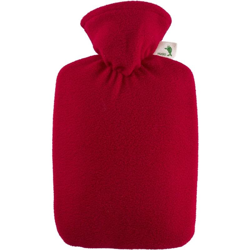Fleece kruik rood 1,8 liter met hoes