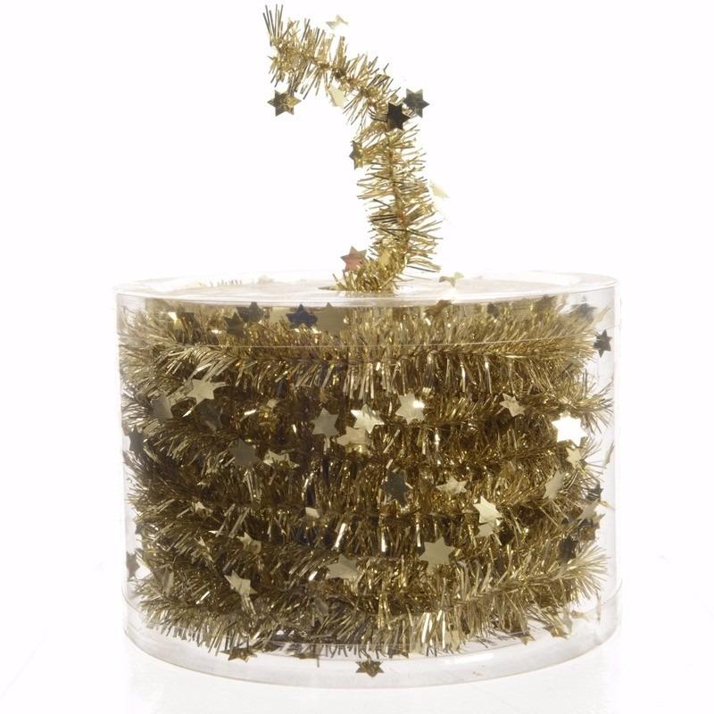 Kerst gouden sterren folieslinger Sweet Christmas 700 cm