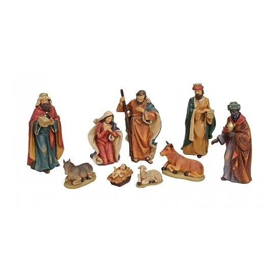 Kerststal kerst versiering figuren van polystone 9x