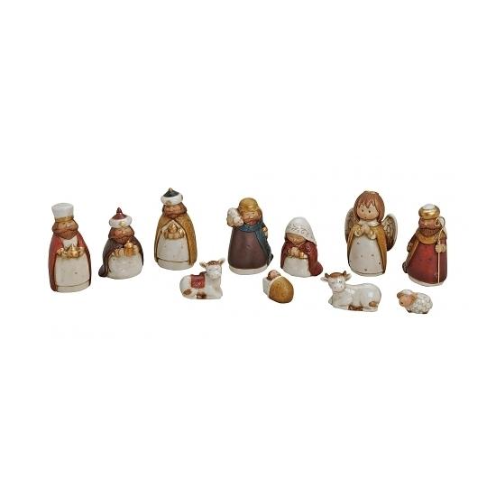 Kerststal kerst versiering figuren van porselein 11x