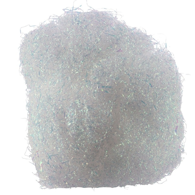 Kerstversiering engelenhaar wit 40 gram