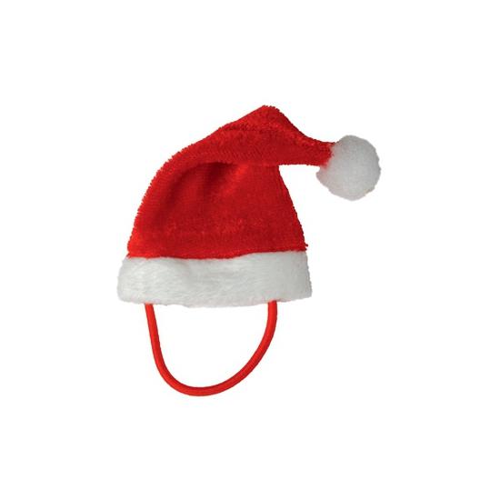 Mini kerstmuts met bandje voor een knuffelbeest/knuffel