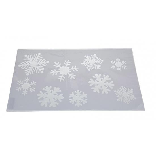 Raamsjabloon sneeuwvlokken 54 cm type 1