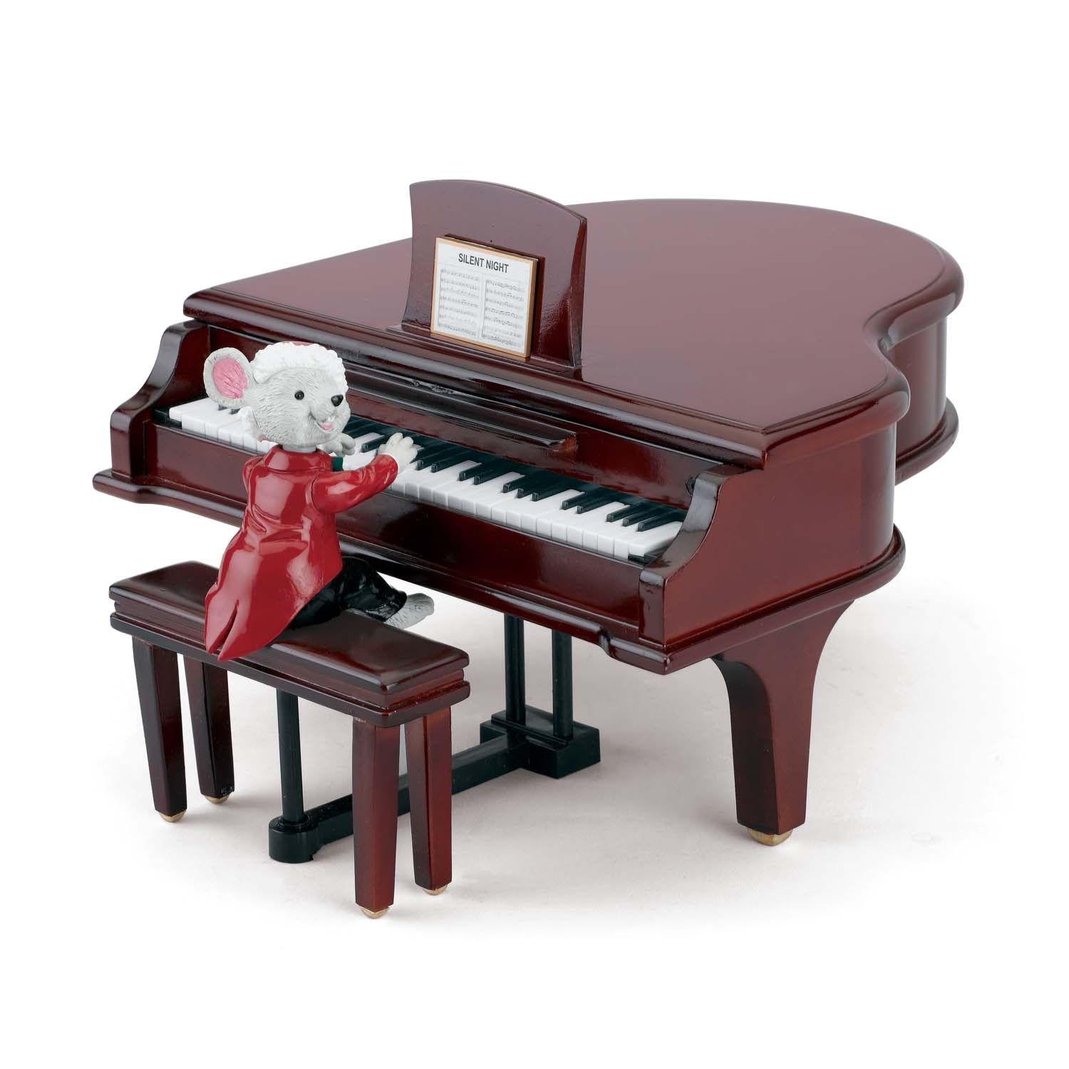 Mr. Christmas – Maestro Mouse With Baby Grand Piano   51053788117   MX-78811